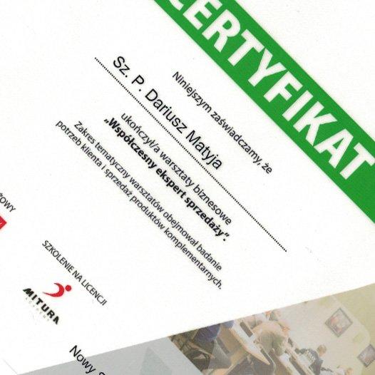 Certyfikat_Dariusz_Matyja