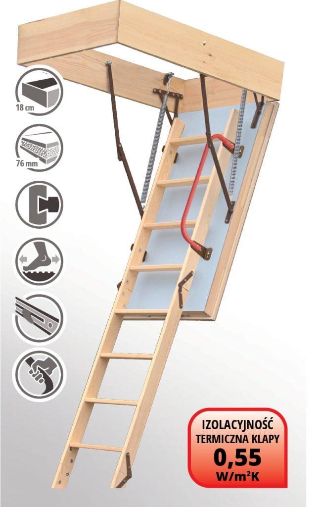 Schody strychowe AVALINE EXTREME 120x70